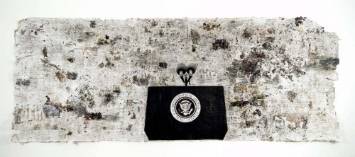 37-presidential-seal-kennardphillippspigmentcharcoalpaper-on-newspaper2006