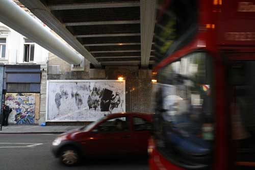 Soldier #1 billboard in Old Street London 2007